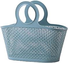 JQZLXXZL Blue Bathroom Shower Bathroom Toiletries Portable Bath Basket Bathroom Storage Basket (Color : Blue, Size : Small)