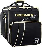 Brubaker Super Grenoble Skischuhtasche Helmtasche Rucksack-Tragesystem mit Schuhfach - Schwarz Gold