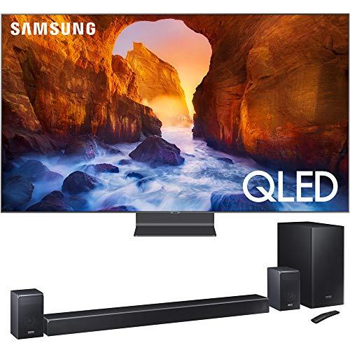 "Samsung QN65Q90RA 65"" Q90 QLED Smart 4K UHD TV (2019) w/ HWQ90R 510W 7.1.4-Channel Soundbar System"