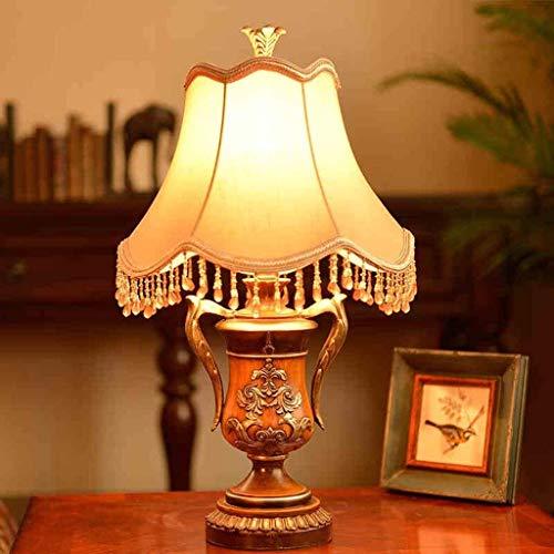BXU-BG Lámparas de mesa, personalidad simple caliente clásico creativo dormitorio lámpara de cabecera, tela de la lámpara, lámpara decorativa, luz de lectura Noche