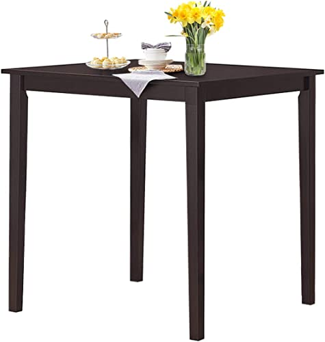 discount Giantex Square Dining Table, Counter Height sale Table with Rubber Wood Legs for 2-4 Person, 36'' Desktop Wood Kitchen Table for Living Kitchen Room Apartment sale Small Space (Espresso) online