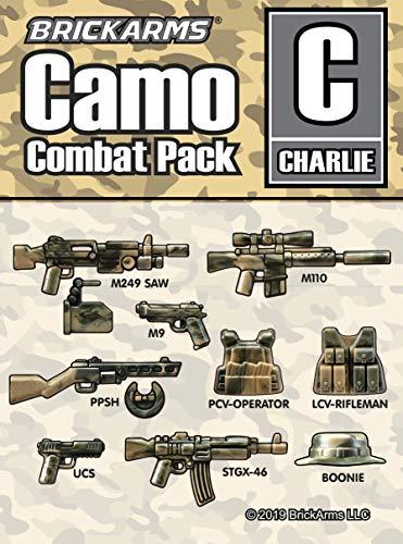 BrickArms Camo Combat Pack Charlie | Set de armas personalizadas | Compatible con figuras Lego