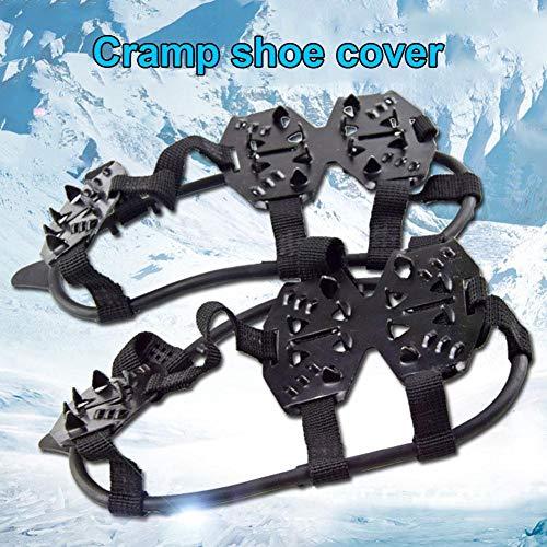Schuhspikes Schuhkrallen Ice Klampen Schnee Spikes Steigeisen Eiskrallen Anti Rutsch zum Laufen, Joggen, Klettern, Wandern auf Schnee und EIS