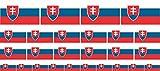 Mini Aufkleber Set - Pack glatt - 4x 51x31mm+ 12x 33x20mm + 10x 20x12mm- Sticker - Slowakei - Flagge - Banner - Standarte fürs Auto, Büro, zu Hause & die Schule - Set of 26