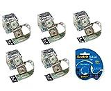 Unique Novelties LLC Green Money Machine Cash Dispenser - Set of 5 and 1 Roll of Tape
