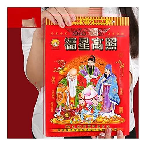 2022 Calendar 2022 Wall Calendar 2022 Hand Tearing Traditional Home Auspicious Chinese Calendar Wall Lucky Annual Calendar Year of The Tiger Academic Year Standing (Color : 9K)