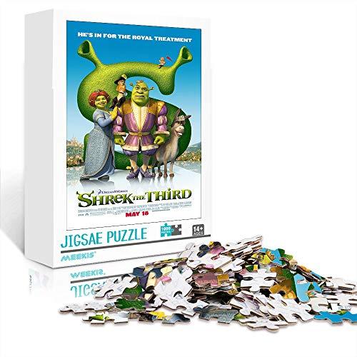 Toys Jigsaw Puzzle Movie poster: Shrek the Third 500 piezas Puzzle 20.5x14.5inches Juegos educativos Rompecabezas de desafío cerebral para niños adultos