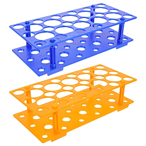 iplusmile 2 Piezas de Plástico Multipropósito Centrifugado Tubo Rack Plástico Tubo de Ensayo Rack Suministros de Laboratorio