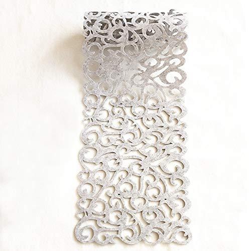 PHNAM Rechteckige Filz-Tischläufer, ausgestanzt, 101,6 x 27,9 cm, für Haushalt, Küche, Dekoration, waschbar