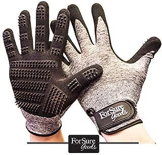 ForSure Goods Newest Design Pet Grooming Glove - Dog Grooming Glove - Deshedding - Bathing Glove -Dog Brush - Cat Brush - Horse Brush Pet Hair Remover- Hair Remover - Grooming Mitt