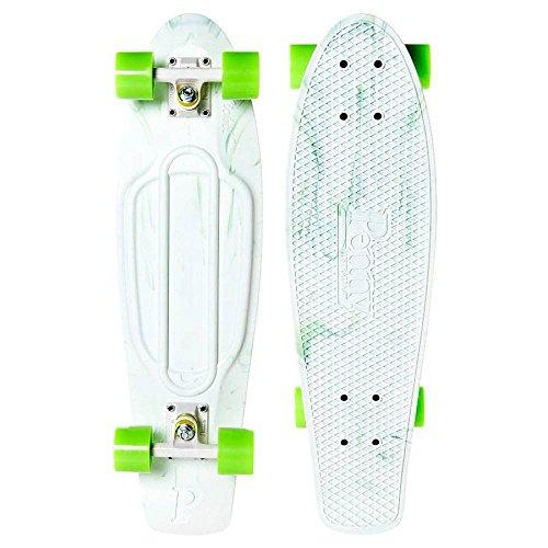 Penny nikkel compleet skateboard - marmer wit/groen 27