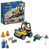 LEGO 60284 City Vehículo de Obras en Carretera, Vehículo de Construcción con Cargador Frontal, Excavadora de Juguete para Niños +4 Años