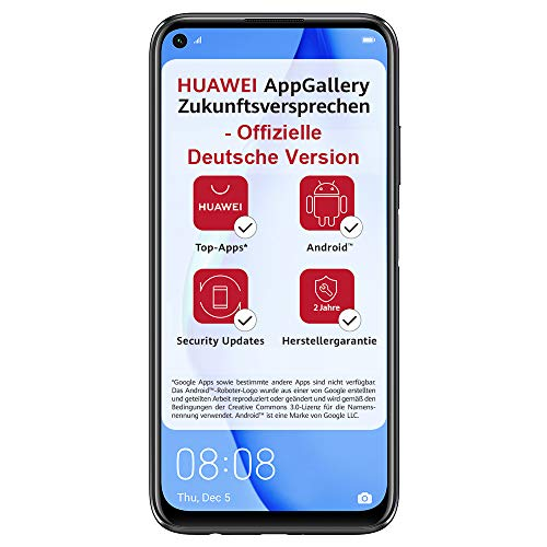 Huawei P40 lite Smartphone, 128 GB interner Speicher, 6 GB RAM, Midnight Black