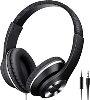 Ausdom Lightweight Over-Ear Wired HiFi Stereo Headphones with Built-in Mic Comfortable..