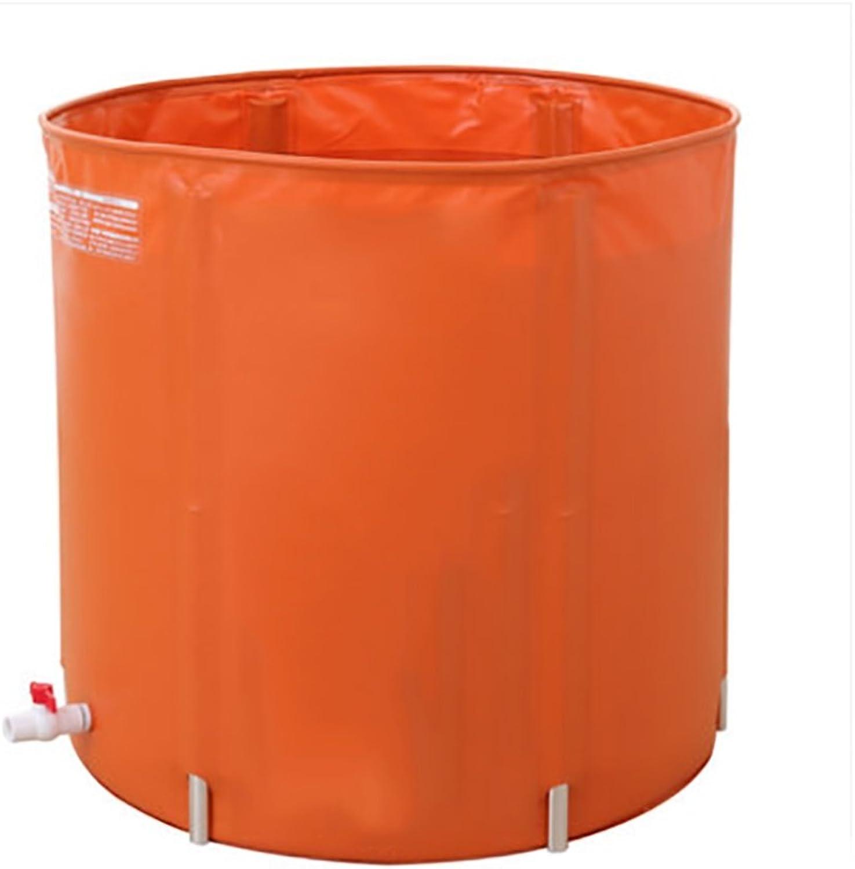 FLYSXP Wannenbad Badewanne für Erwachsene Badewanne frei aufblasbare Badewanne Aufblasbare Badewanne (Farbe   Orange(70cm70cm))