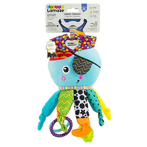 """Lamaze Baby Spielzeug \""""Captain Calamari, die Piratenkrake\"""" Clip & Go, Hochwertiges Kleinkindspielzeug, Stärkung der Eltern-Kind-Beziehung, Ideales Weihnachtsgeschenk, Baby Spielzeug, 0-6 Monate"""