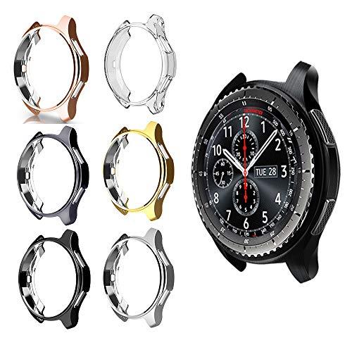 Ruentech Schutzgehäuse für Gear S3 Frontier, SM-R760, galvanisiertes Gehäuse mit Fallschutz, stoßdämpfende Schutzhülle für Gear S3 Smartwatch, ., 6 Stück