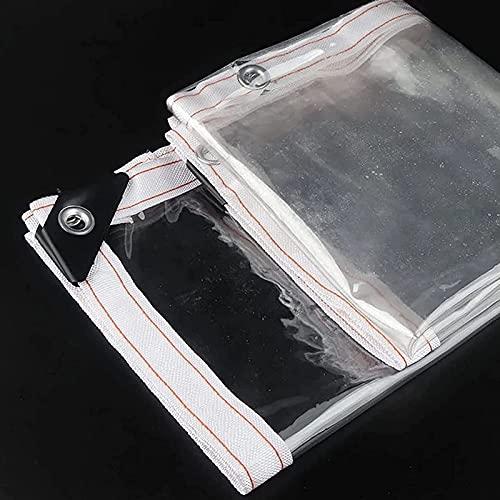 Lona Transparente Impermeable,Lona Transparente Resistente La Rotura Aislamiento Antienvejecimiento PVC Plástico Transparente,Para Cobertizo Balcón Plantas De Flores,1 * 2M/3.3 * 6.6FT