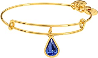 Alex And Ani Rose Crystal September Birthstone Sterling Gold Bracelet A18EB48SG