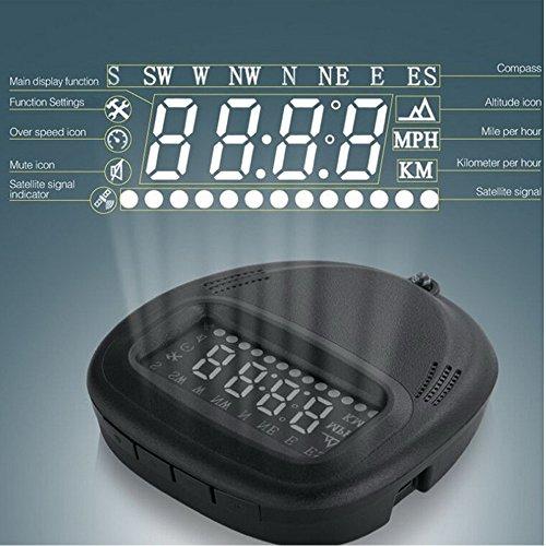 GOFORJUMP Coche electronice HUD GPS Head Up Display coche speedprojector con Alarma Sistema de Seguridad Speed ??Warning Board Panel para cualquier coche