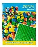 strictly briks - set mattoncini grandi - 100% compatibile con tutte le principali marche - 108 pezzi - 4 colori - include base