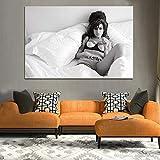 TELEGLO (No Frame) 50 * 70cm Amy Winehouse schwarz und