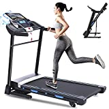 ANCHEER Folding Treadmill 300 lb Capacity,3.25HP Electric Motorized Automatic Incline Running...