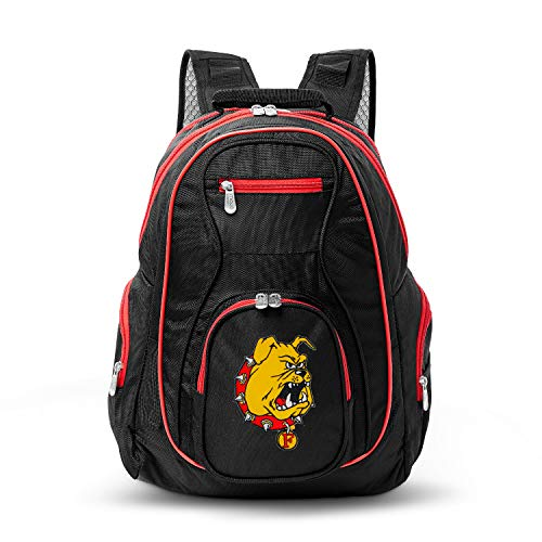 Great Price! NCAA Ferris State Bulldogs Colored Trim Premium Laptop Backpack