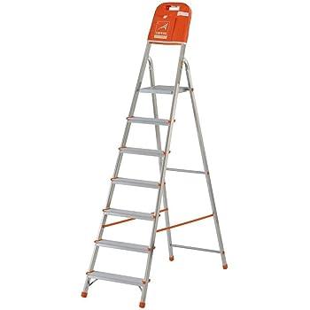 Gierre M262796 - Escalera aluminio kylate al170 7 peldaños: Amazon.es: Bricolaje y herramientas