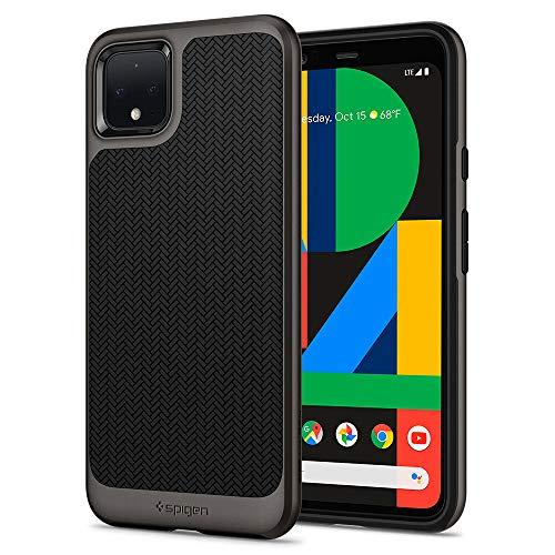 Spigen Neo Hybrid Kompatibel mit Google Pixel 4 XL Hülle, Zweiteilige Handyhülle Modische Muster Silikon & PC Rahmen Schutzhülle Hülle Gunmetal F25CS27552