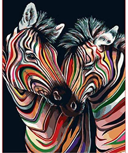 Jigsaw Puzzle 500 pezzi Puzzle in legno Adulti Puzzle Colore Zebra Coppia Matrimonio animale Arte per bambini Fai da te Gioco per il tempo libero Giocattolo divertente Adatto per amici di famiglia