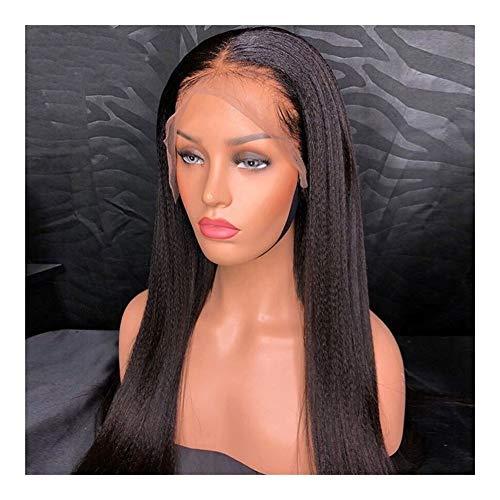 Perruques de mode Pré plumé 13x4 Lace Front perruques de cheveux humains avec bébé cheveux brésiliens cheveux non-Remy Lumière Yaki droites Perruques italienne pour un usage quotidien party soirée dég