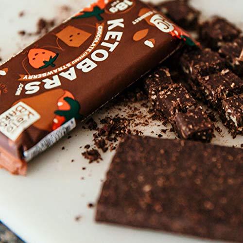 Product Image 2: Keto Bars The Original Keto Snack Bar,  Strawberry Chocolate Flavor – Box of 10