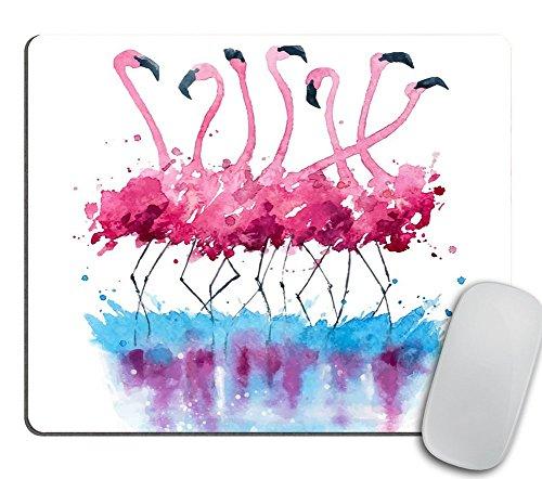 Flamingos Watercolor Painting, Animal Mouse Pad