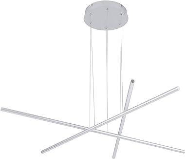 Royal Pearl Modern Pendant Light LED 3 Light Linear Chandelier Ceiling Lights with Adjustable Cord Hanging Pendant Lighting f