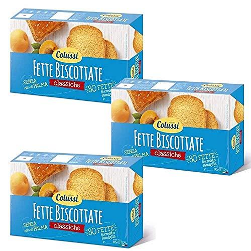 Colussi Fette Biscottate Classiche Zwieback kekse gebackenem Brot 645 g biscuits