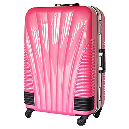 [BB-Monsters] ビービーモンスターズ ストッパー付 スーツケース TSAロック搭載 フレームタイプ 旅行カバン 鳳凰 (26、大型、LM, ピンク)