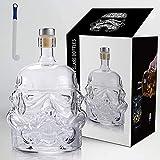 Stormtrooper Decanter Stormtrooper Bottle,Star Wars Bottle,Whiskey Carafe, Transparent Creative 750Ml Whiskey Carafe Decanter, with brush