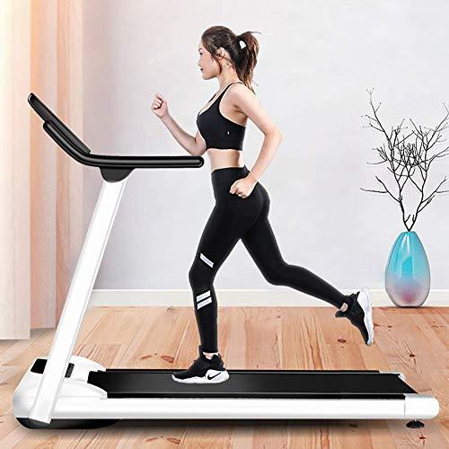 WYZXR Haushalts Silent Laufband faltbar, Herzfrequenzsensor, große LED-Anzeige Elektrisches Laufband Kleine zusammenklappbare Gewichtsabnahme Abnehmen stumme Gehmaschine