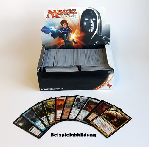 Magic The Gathering: ca. 800 Karten + 10 Rares, gemischte Editionen (ENG / DEU). Pack, Lot