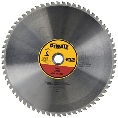DEWALT 14-Inch Metal Cutting Blade, Ferrous Metal Cutting, 66-Tooth (DWA7747) Carbide Cutting Saw Blade