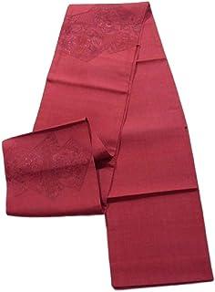 リサイクル 袋帯 紬 刺繍 裂取りに鳳凰や花模様 正絹