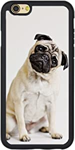 Andenley Animal Pug iPhone Case,Cute Pug Pattern Soft TPU Bumper Shock Absorption Slim Protective Cover for iPhone 5/5s/SE, 6/6s, 6P,7/8,7P/8P (iPhone 5/5s/SE)
