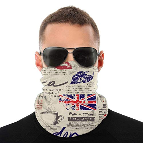 BaoBei-shop Journal de Mode Cent changements Couverture du Visage Foulard et Unisexe Bouclier Visage Couverture du Visage Bandana Confort Foulard Cravat Sports de Plein air