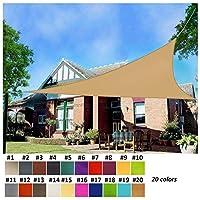 オーニング・シェード三角形シェード セイル 日除けシェード セイル 日よけ シェード オックスフォード布 遮光率95% 軽量 防水性 160gsm 10色 (Color : #20, Size : 5x5x5m)
