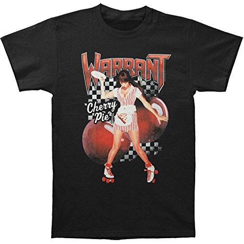 Warrant American Glam Metal Band Cherry Pie Black 2-Sided Adult T-Shirt Tee