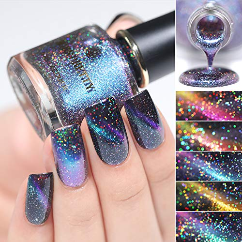 BORN PRETTY Nail Art Holographic Cat Eye Nail Polish 8pcs Set 3D Magnetic Color Changing 6ml...