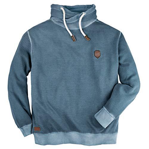 Redfield modisches Struktur-Sweatshirt blau Übergröße, XL Größe:6XL
