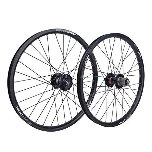 TYXTYX Ruote per Bicicletta BMX da 20'Ruota per Bici Pieghevole Grande Cerchio in Lega a sgancio rapido Anteriore 2 Posteriore 4 Palin 32H 8 9 10 velocità