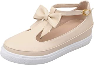 Zanpa Women Casual Brogue Shoes T Strap
